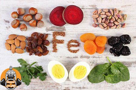 مواد غذایی آهن دار - فیتنس ساز